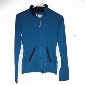 New Balance Blue Zip Front Lightweight Jacket XXS